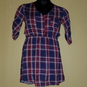 Mimi Chica plaid dress